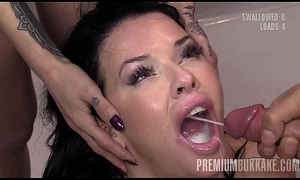 Premium Bukkake - Veronica Avluv swallows 61 huge nosh cumshots