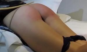 Stepdaughter spanked